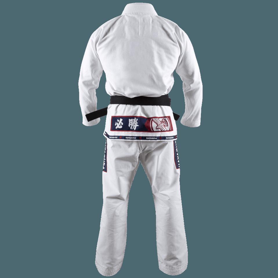 White Hayabusa Mens Shinju Pearl Weave Jiu Jitsu Gi